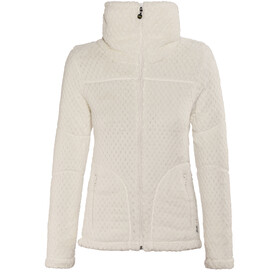 Meru Kaluga High Collar Waffle Teddy Fleece Jacket Women Marshmallow